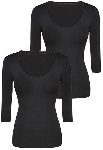 Bamboo 3/4 Sleeve Top -2 Pack