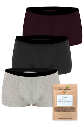 Men's Boxer Trunks + Immunity Tea Set