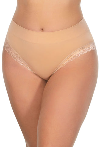 Curvy Lace High Cut Brief