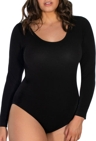 Curvy Long Sleeve Bamboo Bodysuit
