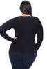 Curvy Bamboo Long Sleeve Top