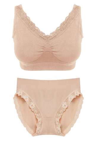 Aphrodite Lace Lounge and Lace High Cut Set