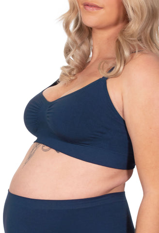 Nursing Bamboo Bra - Pacific Blue