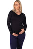 Maternity Bamboo Long Sleeve Relaxed Fit Tee