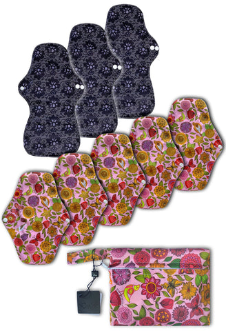 Day & Night Reusable Stay-Dry Period Pads Starter Set