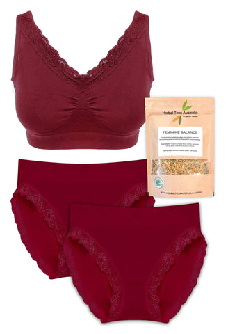 Lace Intimates + Hormone Balancing Tea Set