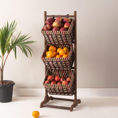 3 tier fruit and vegetable basket