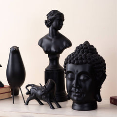 black monochrome figurines