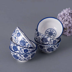 blue and white bowls set