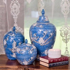 ceramic decorative jars and canisters