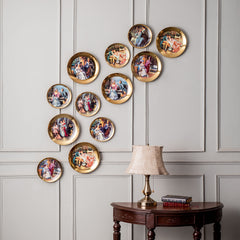 classic vintage golden wall decor plates