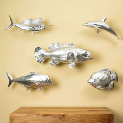 fish family wall sculptures