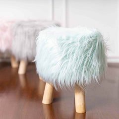 fur ottomans
