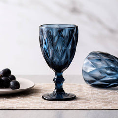 royal blue vintage champagne glasses