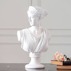 stone carving white women bust