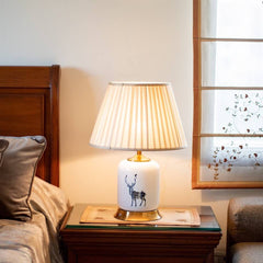 the reindeer ceramic table lamp