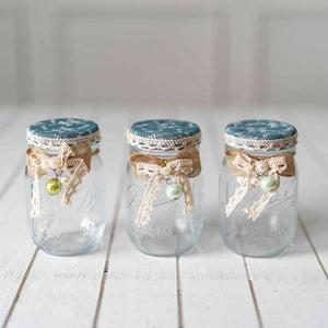 Clear Mason Jars - Set of 3