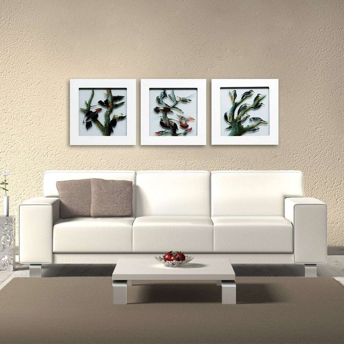 Sanctuary - Shadowbox Frame Print on Glass - Set of 3