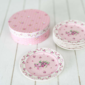 Old Country Pink Saucers - Set of 6
