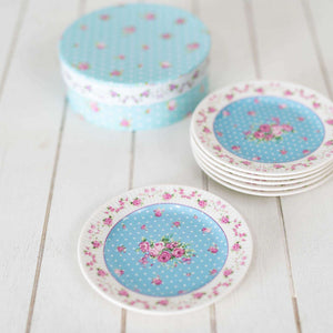 Old Country Blue Saucers - Set of 6