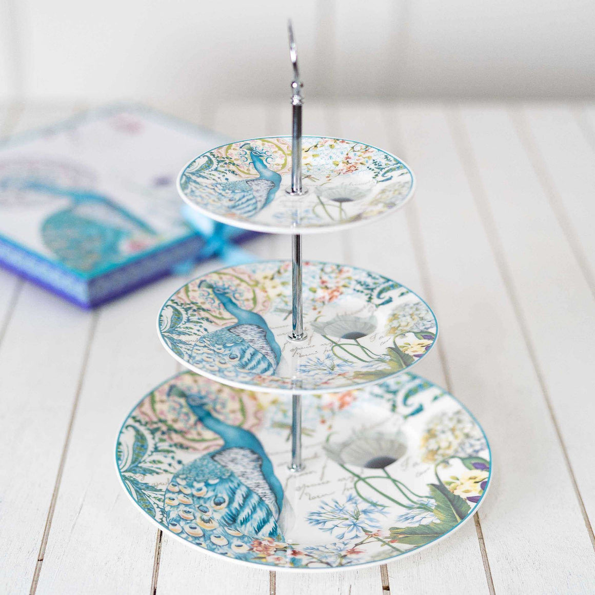 The Peacock 3-Tier Cake Stand