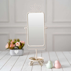 'The Crown' Tabletop Mirror - White
