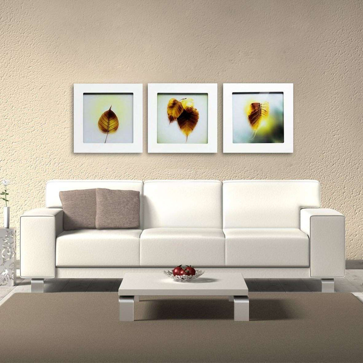 Autumn - Shadowbox Frame Print on Glass - Set of 3