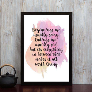 Everything in Between - Framed Poster