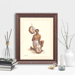 History of the Indian Attire - Framed Art