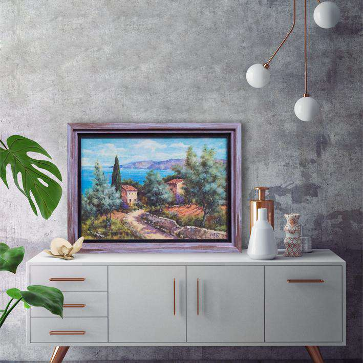 Colorful Houses of Italy - Framed Art from Italy