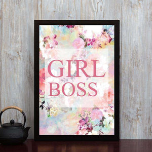Girl Boss - Framed Poster