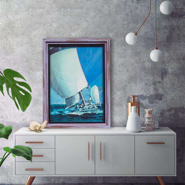 Sea Sport of Surfing Boats - Framed Art of Italy
