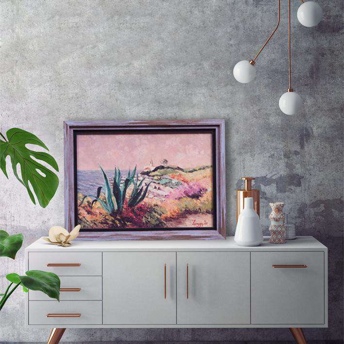House with garden - Framed Art from Italy