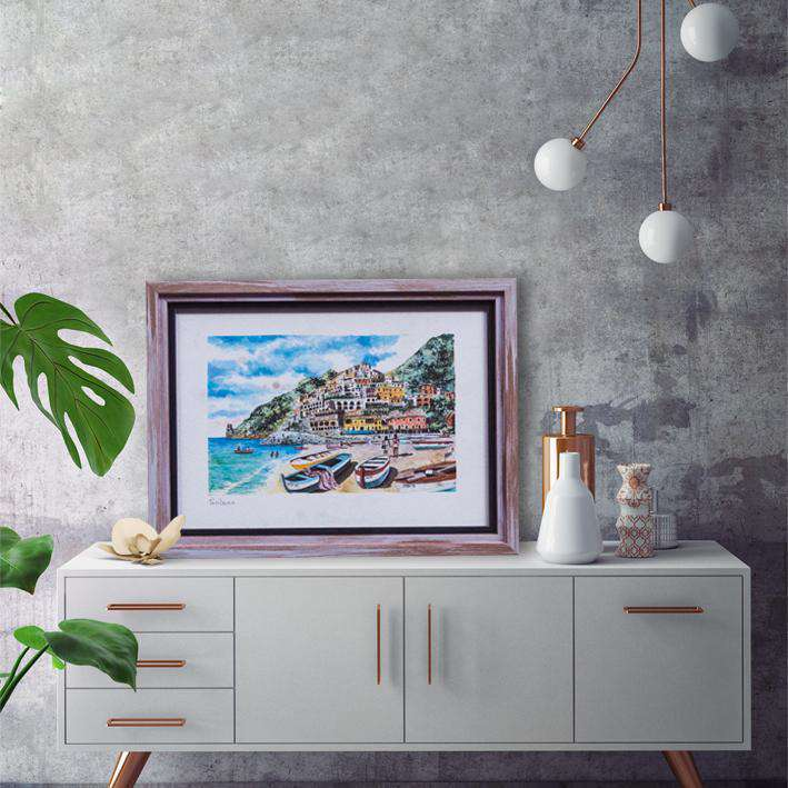 Italy coastal scenes at its best - Framed Art from Italy