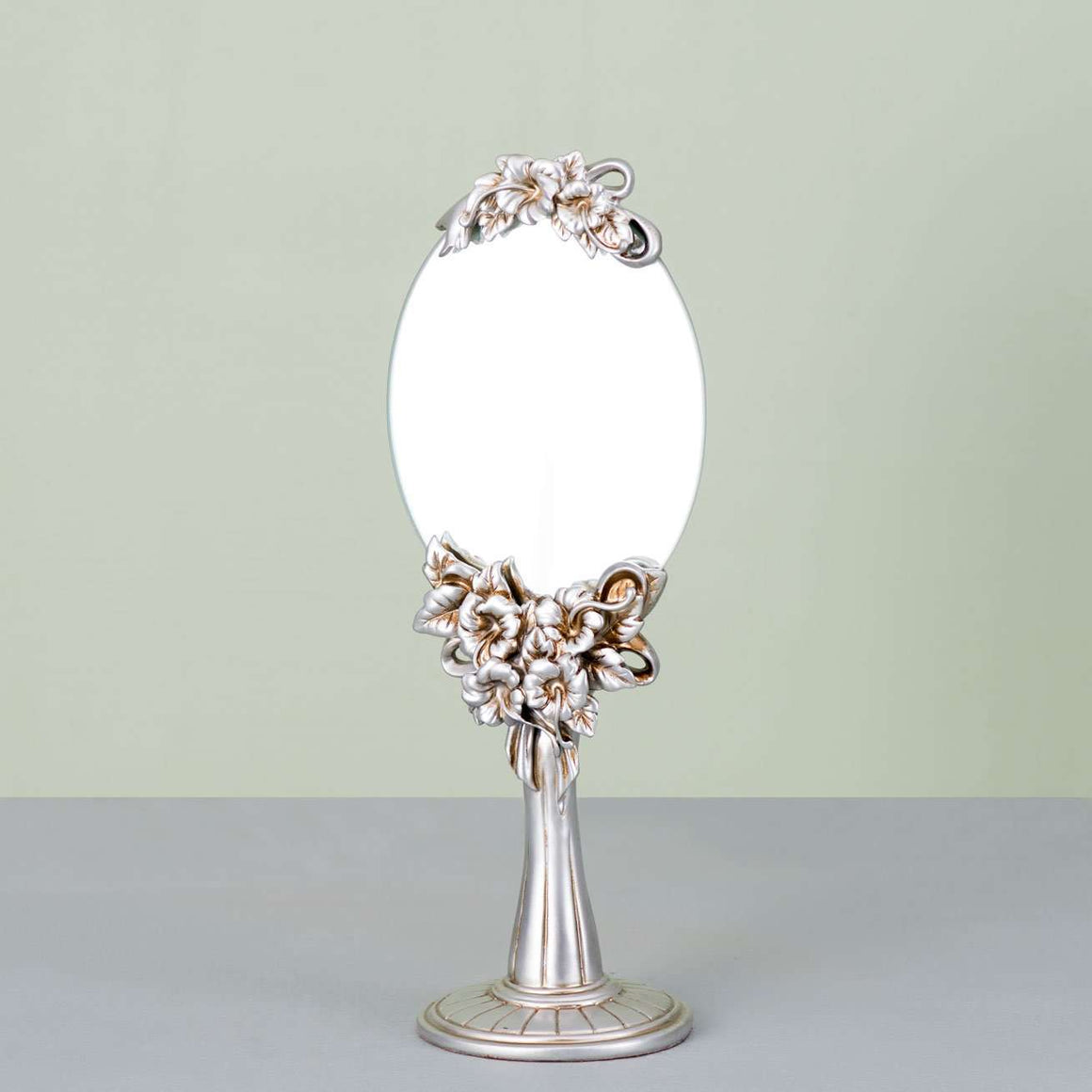 Antiqued Silver Tabletop Mirror - Large