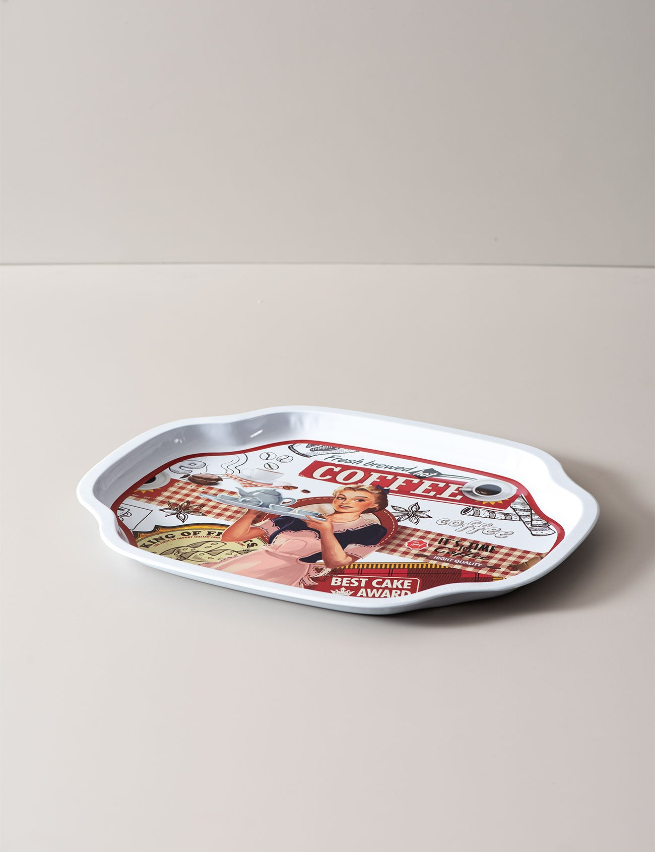 Coffee Serving Tray White Thedecorkart