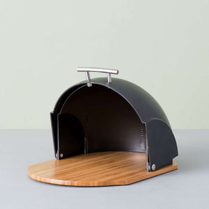 Roll Top Bread Box - Black