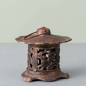Pagoda Cast Iron Tea-Light Holder