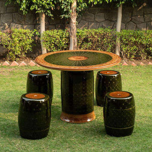 Imperial Garden - Garden Stool Table 5-Piece Set