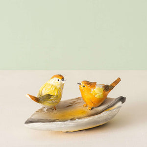 Two Robins on a Leaf - Mini Platter