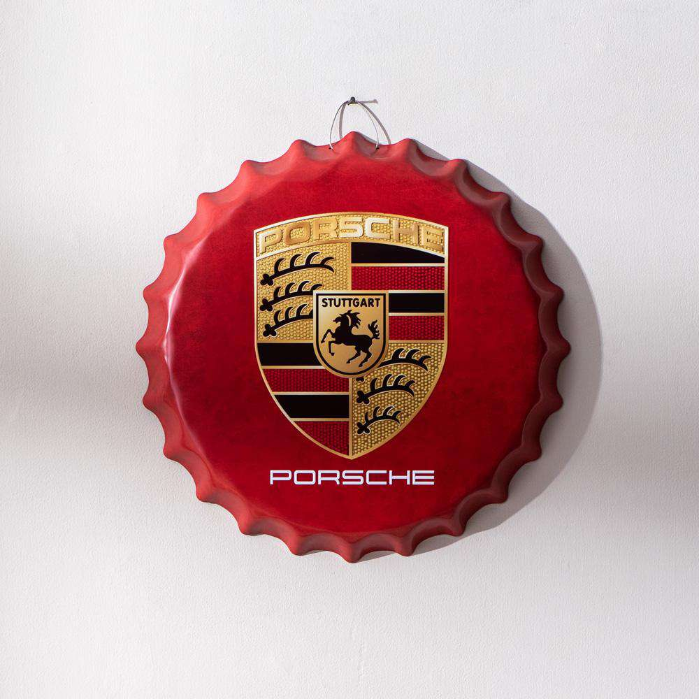 'Porsche' Oversized Wall Bottle Cap