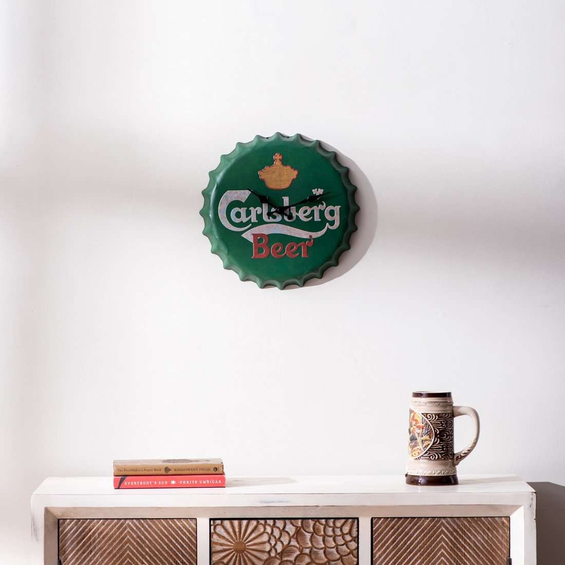 Carlsberg Bottle Cap Wall Clock