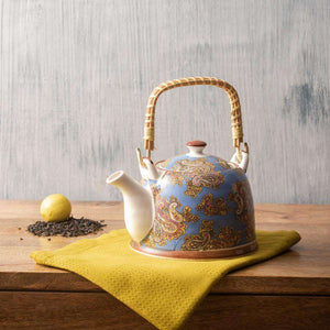 Blue Paisley - Ceramic Tea Kettle