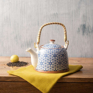 Patterned III - Ceramic Tea Kettle