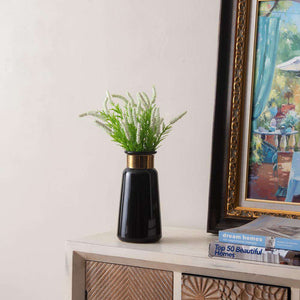 'Ornament' Black and Gold Vase - Large