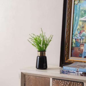 'Ornament' Black and Gold Vase - Small