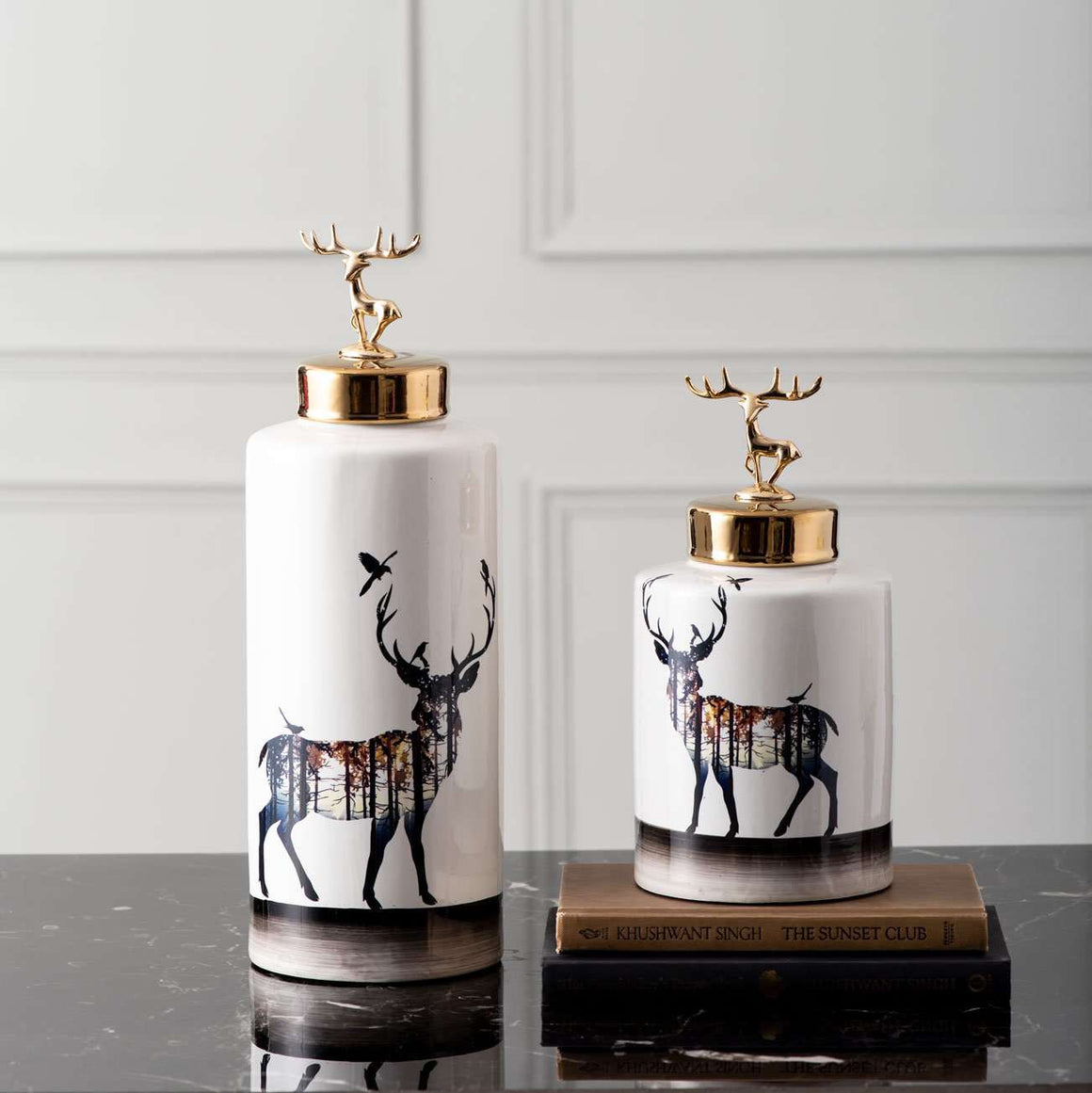 'The Forest' Reindeer Lidded Jar - Small
