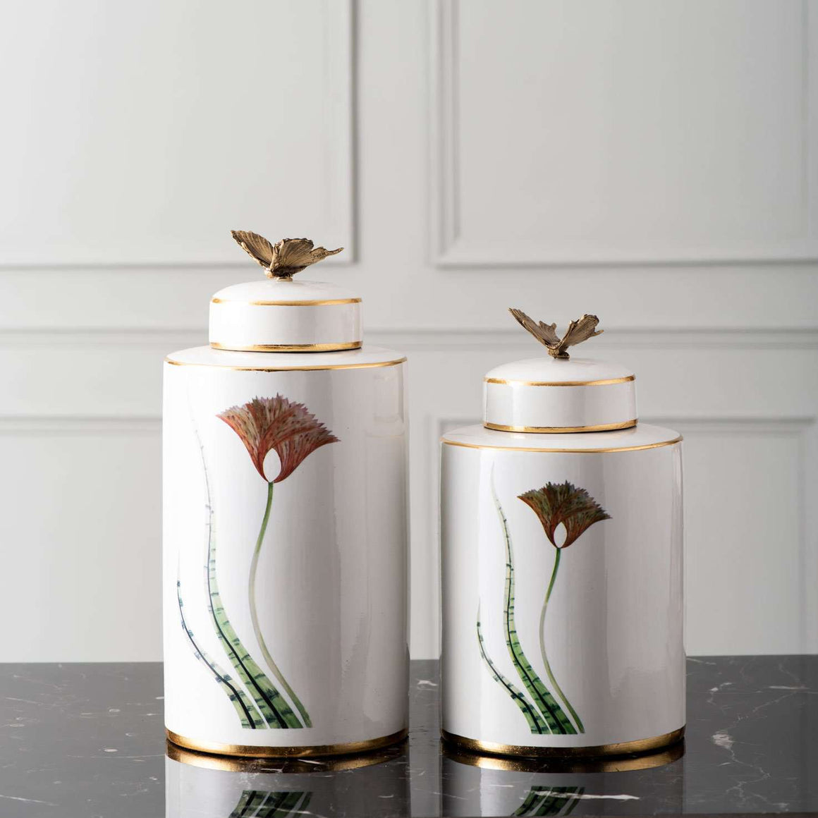 'Poise' Butterfly Lidded Jar - Small