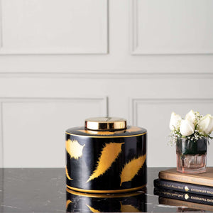 'The Feather' Lidded Jar - Small
