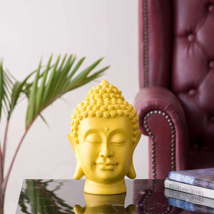 Serene Buddha Figurine - Yellow